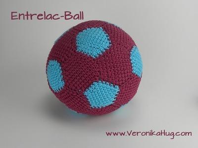 Häkeln - Entrelac - Ball - Fußball - Teil 3 -  Veronika Hug