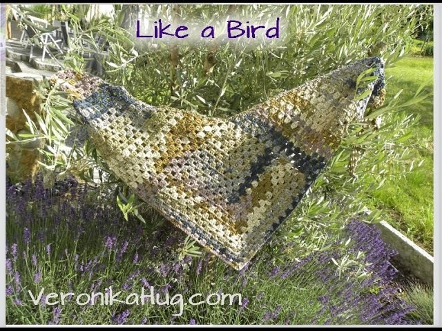 "Häkeln Tuch ""Like a Bird"" - Teil 2 - Woolly Hugs - Veronika Hug"