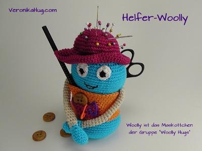 Helfer-Woolly - Maskottchen der Gruppe Woolly Hugs auf facebook