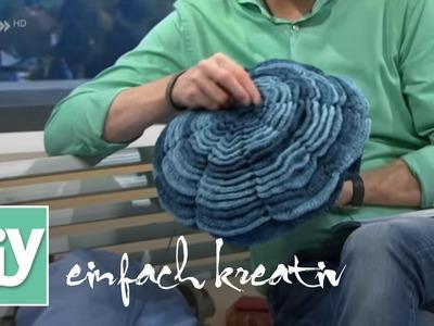 Kissen in Blumenform | DIY einfach kreativ