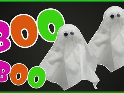 DIY Halloween | Taschentuch Geist. Gespenst basteln | Tissue Ghost