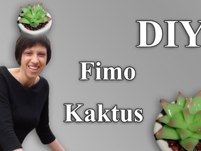 FIMO Kaktus: Polymer Cactus (transparent beauty) - Tutorial [HD.DE] (EN-Sub)