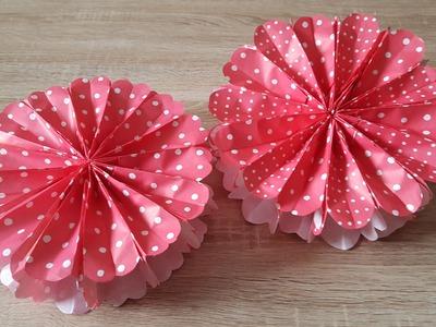 3D Blume aus Papiertüten basteln. 3D Paperflower