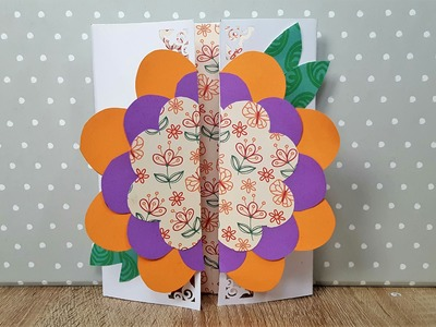Geburtstagskarte mit Blume basteln -How to make a Birthday Card with a flower on top