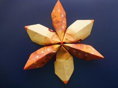 Geldgeschenk, Geldscheine falten Blume