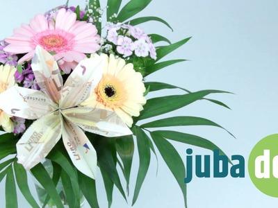 Geldscheine falten: Blume - dekorativ und wunderschön