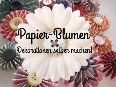 Papier-Blumen basteln!