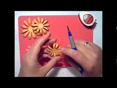 Papier Blumen selbs Basteln