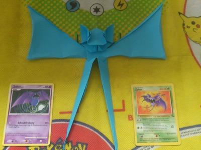 PokeGami Pokemon Origami #041 Zubat - mit Schneiden