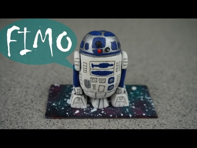 R2-D2 ~ Star Wars ~ Fimo. Polymerclay. Tutorial