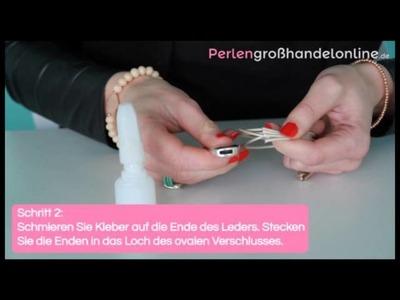 DIY: DQ Leder mit Hakenverschluss oval