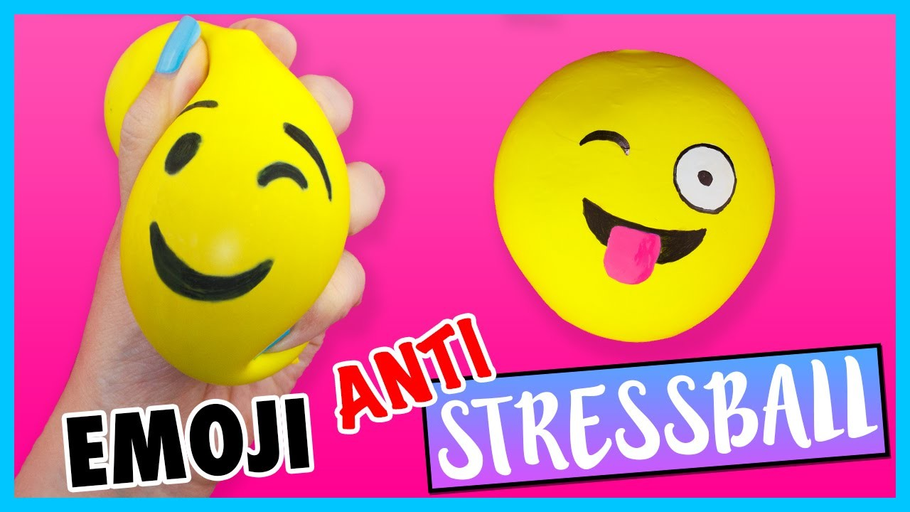 diy emoji anti stressball. Black Bedroom Furniture Sets. Home Design Ideas