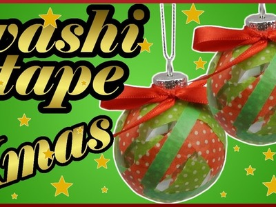 DIY washi tape challenge xmas | Weihnachten Christbaumkugel | Baumschmuck | Christmas ball ornament