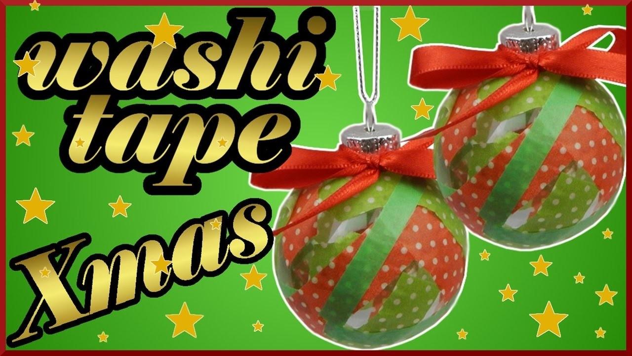 DIY washi tape challenge xmas | Weihnachten Christbaumkugel | Baumschmuck | Christmas ball ornament