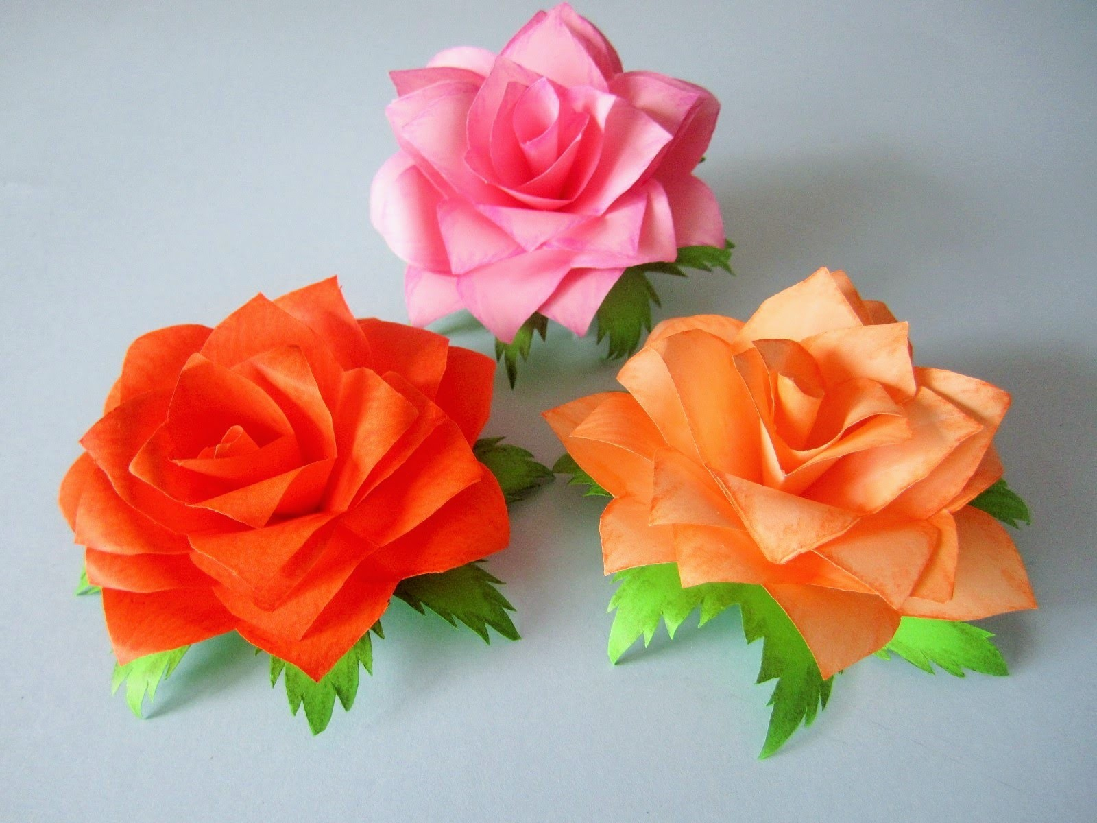 Rosen aus notizzettel for Fimo muttertagsgeschenk