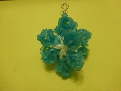 Schneeflocke 3D Weihnachtsdeko Eiskristall Snowflake  Weihnachten Loom Bandz Anleitung