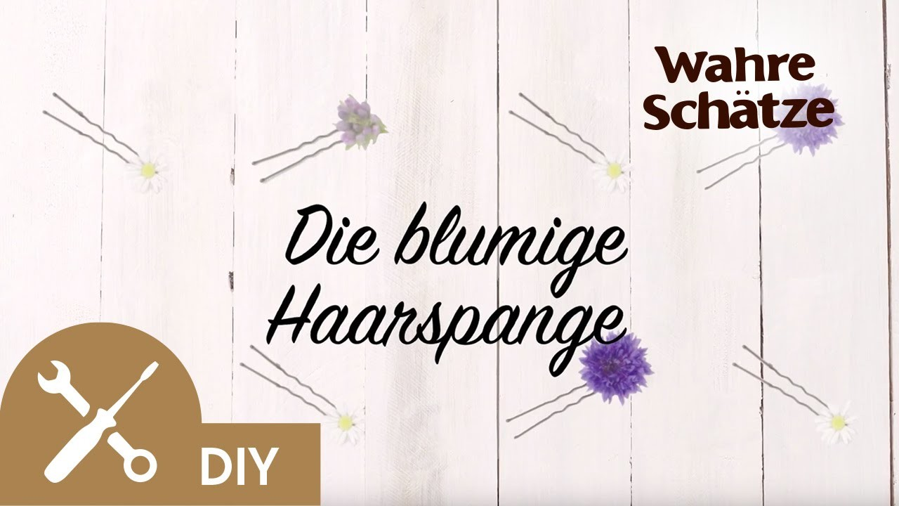 blumenkranz selber machen tutorial die haarspange garnier. Black Bedroom Furniture Sets. Home Design Ideas