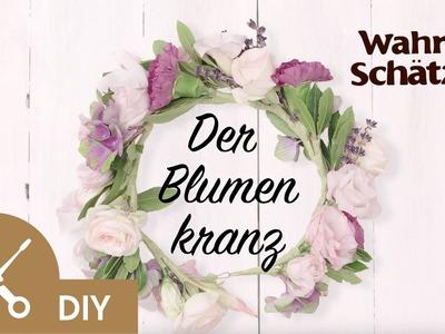 Blumenkranz selber machen Tutorial - Der Blumenkranz | Garnier