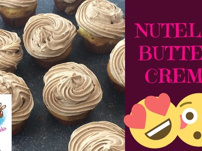 DIY NUTELLA BUTTERCREME FÜR KUCHEN UND CUPCAKES. HOW TO MAKE NUTELLA BUTTERCREAM FROSTING