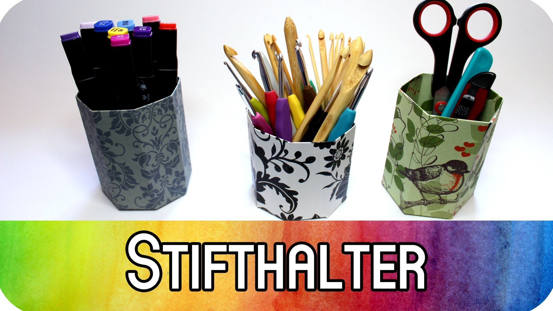 diy aufbewahrung 5min projekt stifthalter papierbecher. Black Bedroom Furniture Sets. Home Design Ideas