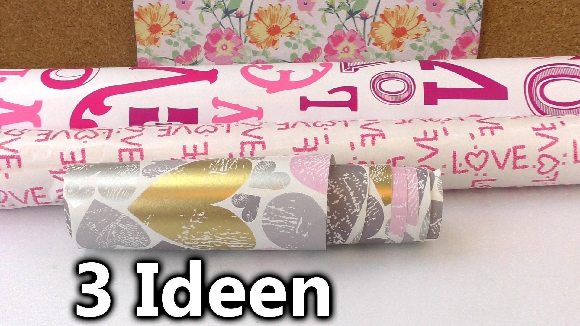 Drei tolle Geschenkpapier Ideen | kreative Dinge, die ihr mit schönem Geschenkpapier machen könnt
