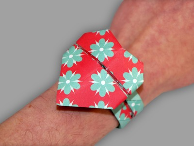 Origami Armband Herz: Valentine's wristlet - Faltanleitung (Live erklärt)