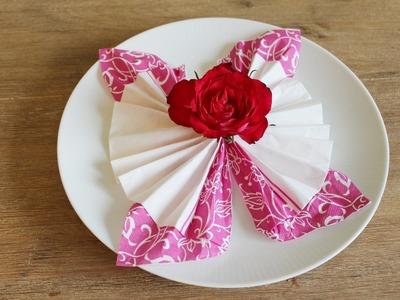 DIY Servietten falten:Schmetterling Tischdeko- Schritt für Schritt Anleitung