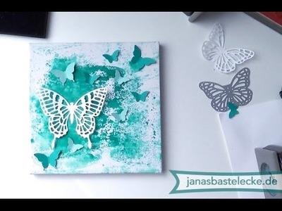 Kreativer Montag 75 - Schmetterlingleinwand