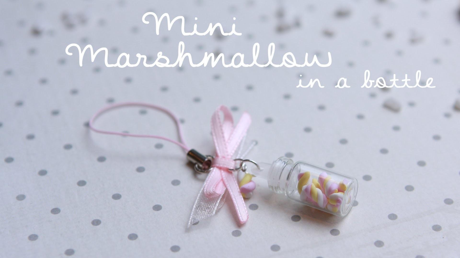 MINI Marshmallows in a BOTTLE  | FIMO Tutorial