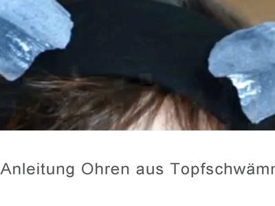 DIY Anleitung Ohren aus Topfschwämmen