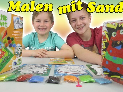 Sand Picture Farbsand Kinder Bastel Set DIY Revell my Arts Spielzeug Video TipTapTube Kinderkanal