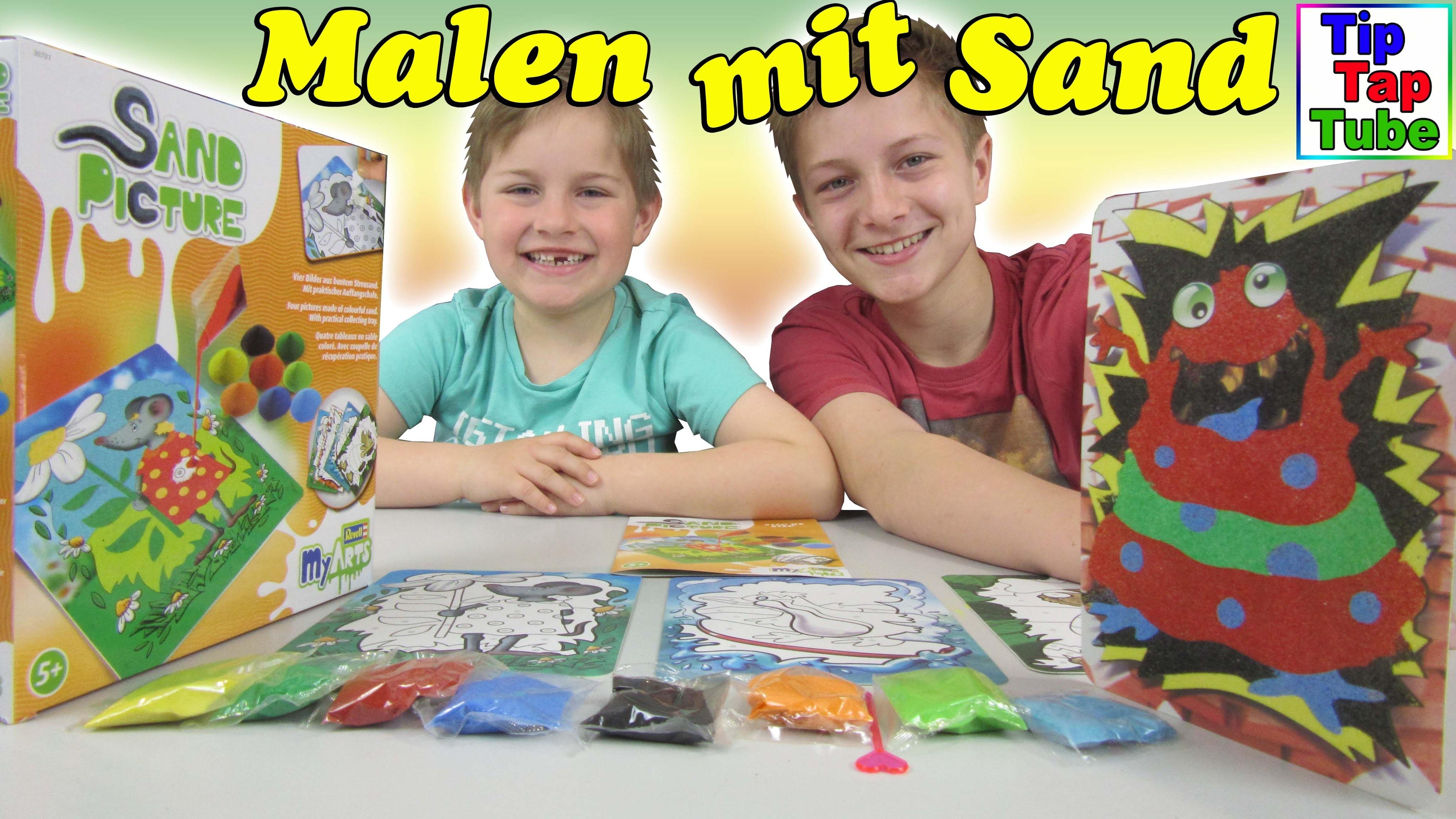 Sand Picture Farbsand Kinder Bastel Set DIY Revell my Arts Spielzeug Video TipTapTube Kinderkanal