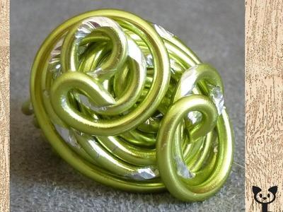 Aludraht Ringe aus rundem Draht
