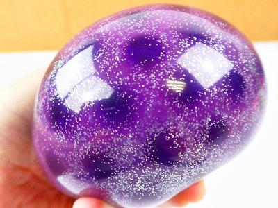 Antistressball mit Orbeez, Schleim & Glitzer Galaxy effekt