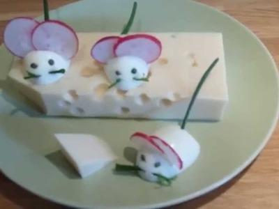 FUNNY FOOD Eiermäuse - hübsche Deko für Käseplatte