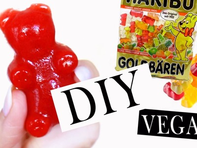 Gummibärchen selber machen | nur 4 Zutaten Rezept | gesunde Weingummi Snacks ohne Zucker | 2 Min
