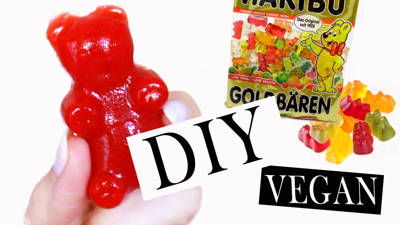 Gummibärchen selber machen   nur 4 Zutaten Rezept   gesunde Weingummi Snacks ohne Zucker   2 Min