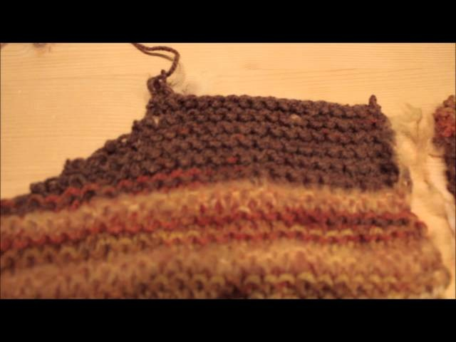 Raffinierter Pullover beidseitig tragbar gestrickt und gehäkelt
