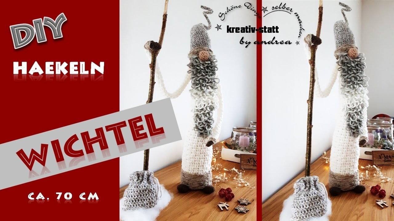 diy h keln anleitung gro er wichtel crochet pattern big witch. Black Bedroom Furniture Sets. Home Design Ideas