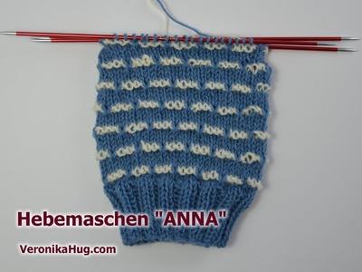 Socken stricken - Sockenmuster Hebemaschen ANNA - Veronika Hug