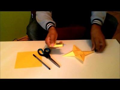Einen 3D Stern basteln