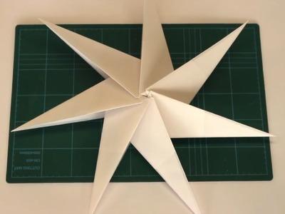 Faltanleitung: Weihnachtlicher 3D Stern aus Bascetta-Stern Faltpapier
