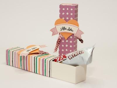 Kleine Schoki süß verpackt mit Stampin' Up!