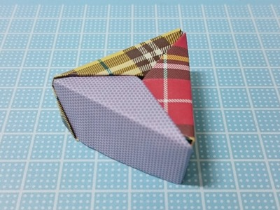 Origami Schachtel Leicht Anleitung! drei Farben Modulare Origami