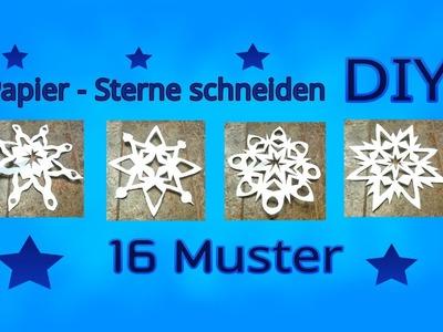 Papier - Sterne schneiden. Anleitung