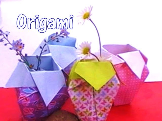 origami vase tutorial easy. Black Bedroom Furniture Sets. Home Design Ideas