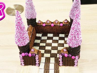 Wunderschöner BURG-KUCHEN   einfache Geburtstagskuchen Idee   Schloss Kuchen OHNE Backen