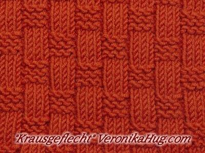 """Stricken - Reliefmuster """"Krausgeflecht"""" Veronika Hug"""