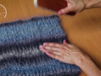 TIP Mirage: Mohair brushed effect · Peinar Mohair · Ressortir le poil du Mohair