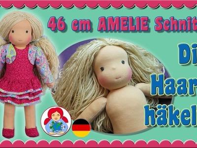 DIY | Puppenhaare häkeln | Puppenperücke für Sami Schnitt AMELIE • Sami Doll Tutorials